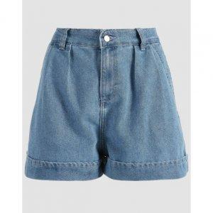Shorts Jeans Pregas Barra Dobrada
