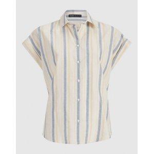 Camisa Algodão Listrado Pala Costas
