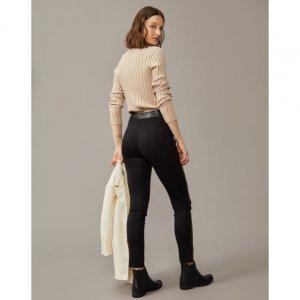 Calça Skinny Leather Tecido