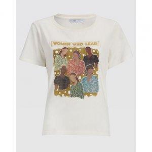 T-Shirt Malha Manga Curta Estampa Mulheres