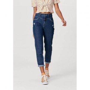 Calça Jeans Feminina Modelagem Mom Em Algodão