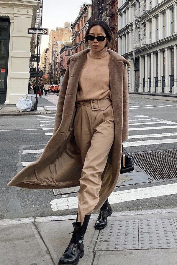 Aimee Song - looks - looks monocromáticos - inverno - street style
