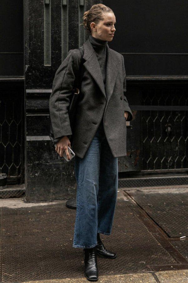 reprodução pinterest - casaco midi - casacos - inverno - street style