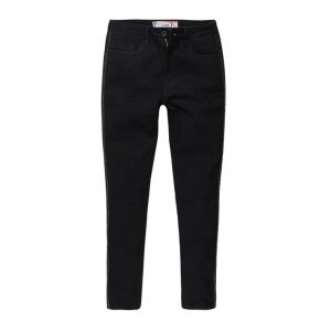 Calça Feminina Jeans Black Brilho Lateral