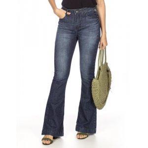 Calça Feminina Jeans Flare Cintura Alta