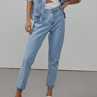 Calça Jeans Mom Fit