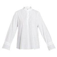 Quintess - Camisa Branca Franzido na Manga e Gola