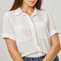 Camisa Manga Curta Bolsos Esntl