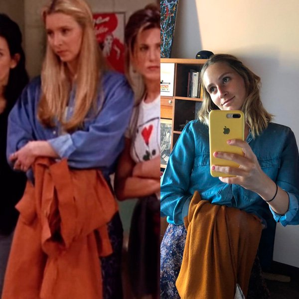 Lisa Kudrow, Joana Sondermann - camisa-jeans - anos 90 - verão - street-style
