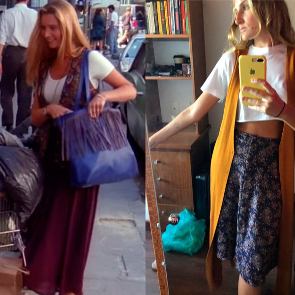 Lisa Kudrow, Joana Sondermann - colete - anos 90 - verão - street-style