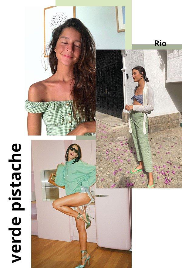 It girls - Verde pistache - Cores - Verão - Street Style