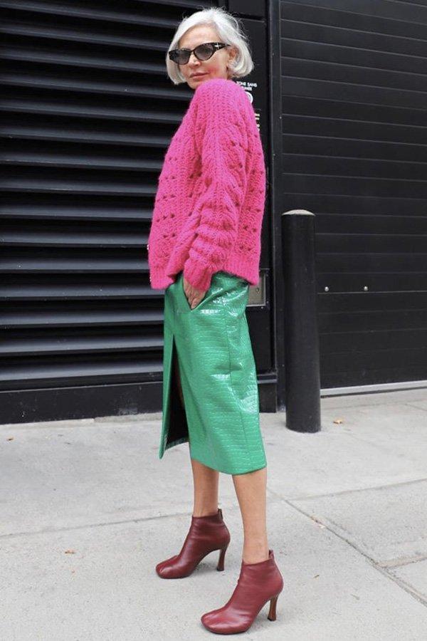 Grece Ghanem - saia midi - saia de couro - inverno - street style