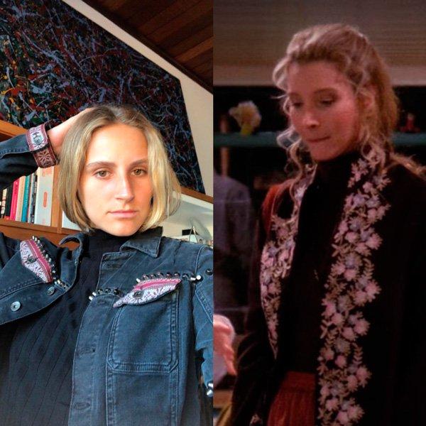 Lisa Kudrow, Joana Sondermann - jaqueta - anos 90 - verão - street-style