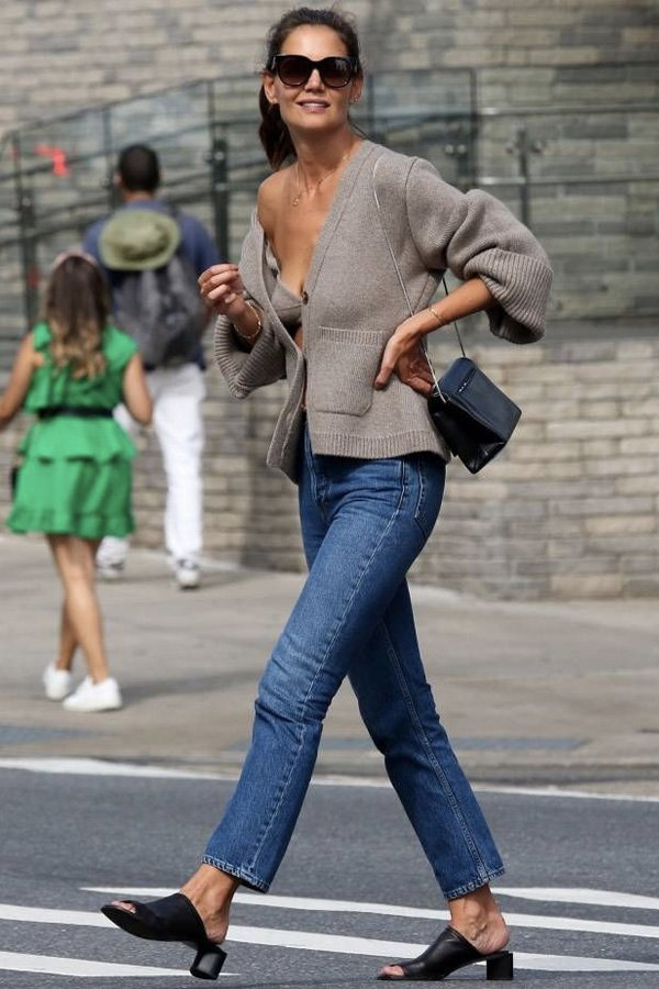 Katie Holmes - cool - moderna - inverno - street style