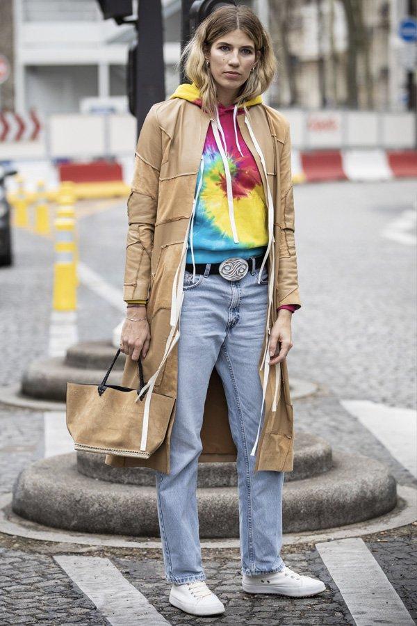 reprodução pinterest - tendência - tie dye - inverno - street style