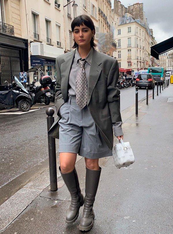 María Bernard - gravata - gravata - inverno - street-style