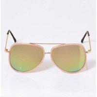 Quintess - Óculos de Sol Aviador Rosa com Lente Espelhada