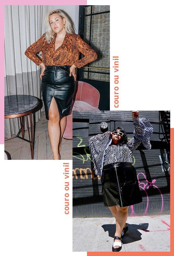 It girls - Saia - Couro ou vinil - Verão - Street Style
