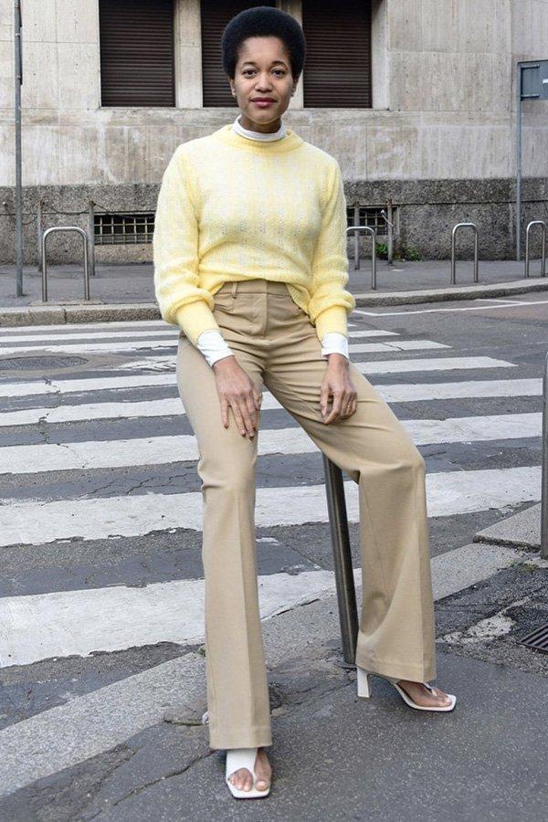 Tamu Mcpherson - looks - sandálias - inverno - street style