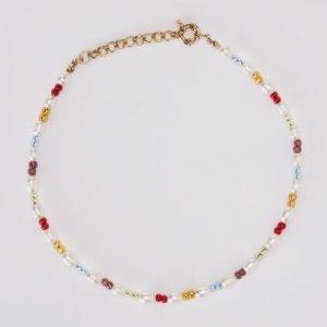 Choker Pérolas E Beads