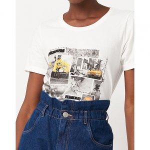 T-Shirt Malha Curta Com Estampa Foto