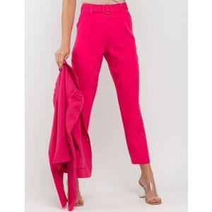 Calça Com Cinto Trançado Pink