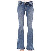 Calça Jeans Lança Perfume Flare Estonada Azul