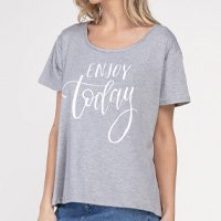 T-Shirt Enjoy Today Today Mescla