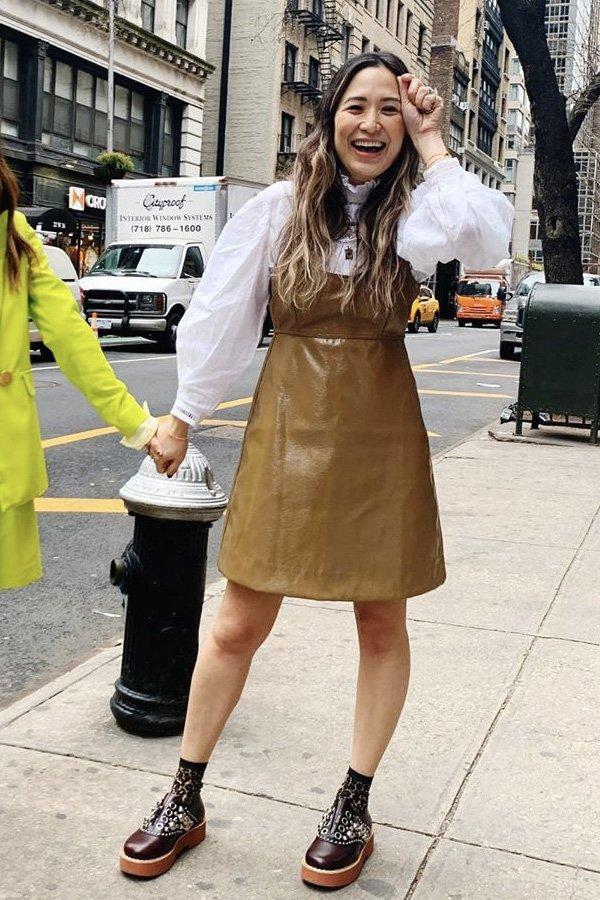 Caroline Maguire - blusa da meia estação - blusa - inverno - street style - https://stealthelook.com.br