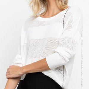 Blusa Tricot Listrada Off White