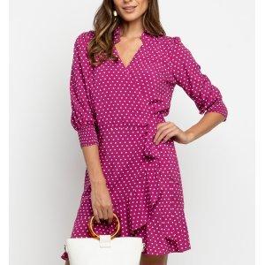 Vestido Cachequer Poa Pink