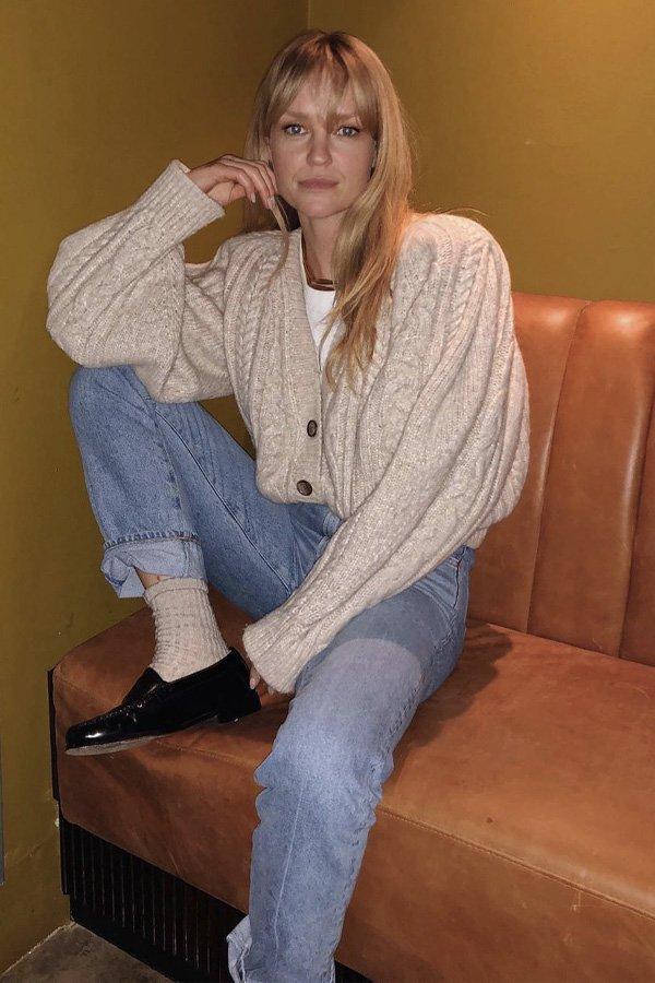 Jeanette Madsen - mocassim no inverno - mocassim - inverno - em casa - https://stealthelook.com.br