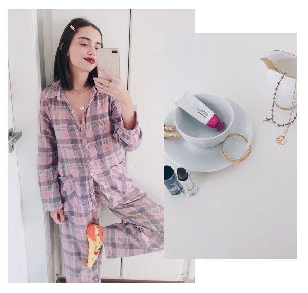 Giovana Marçon - receita dos pijamas - looks - pijamas - em casa - https://stealthelook.com.br
