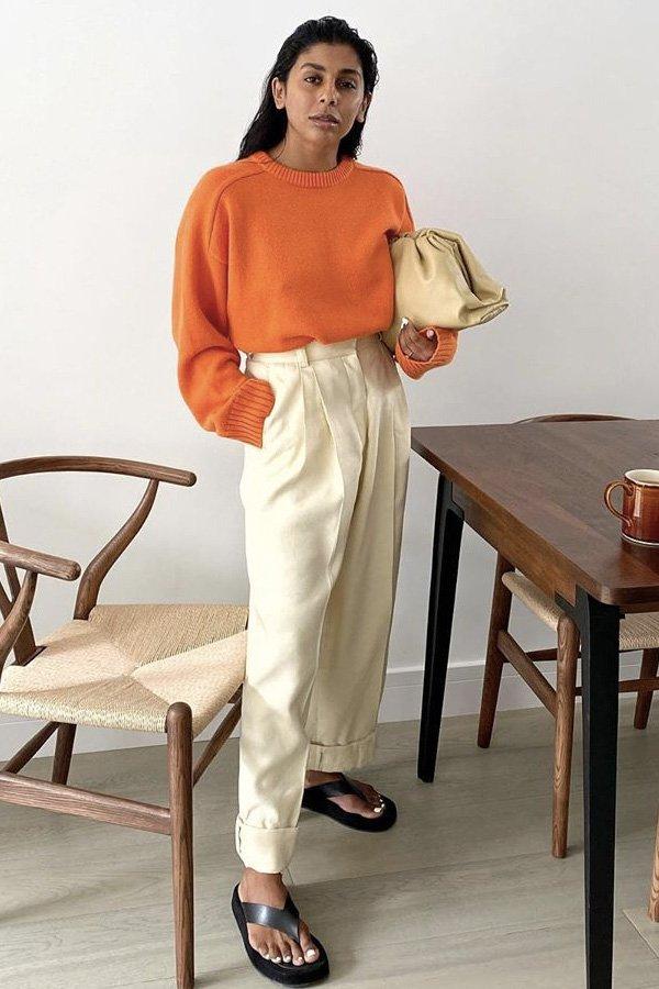 Monikh Dale - calças confortáveis - wide - inverno - em casa - https://stealthelook.com.br