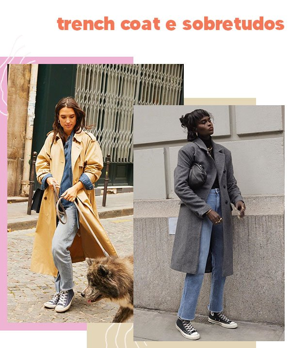 It girls - Trench coat - Trench coat - Outono - Street Style