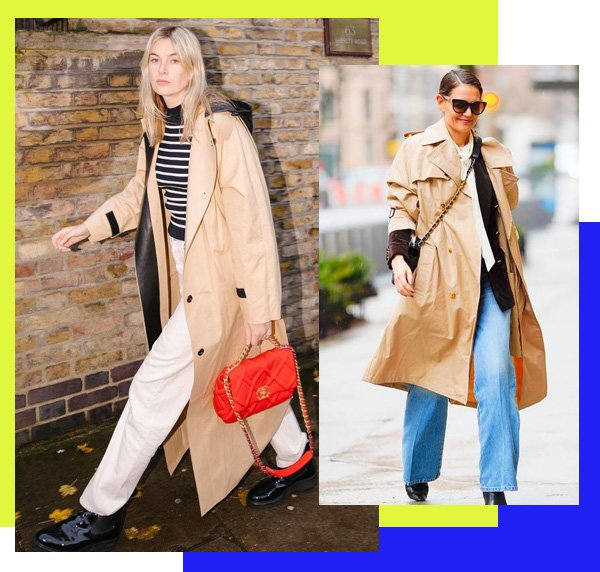 Camille Charriere, Katie Holmes - trench-coat - trench-coat - outono - street-style