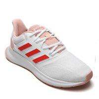 Tênis adidas Performance Run Falcon W Branco/Rosa