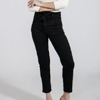 CALÇA JEANS MOM BLACK 36