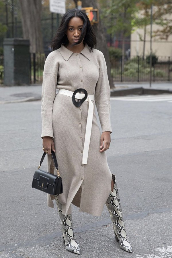 Chrissy Rutherford - vestidos no inverno - vestidos - inverno - street style - https://stealthelook.com.br