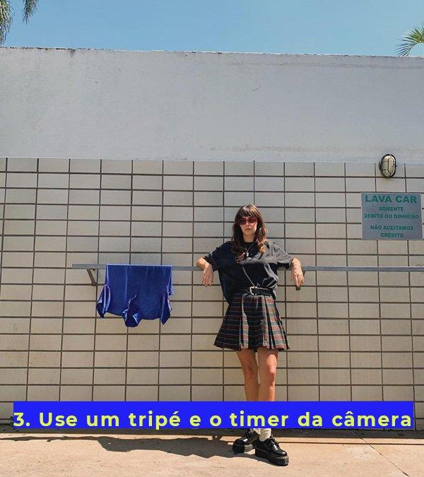 Debora Spanhol - saia - xadrez - outono - em-casa - https://stealthelook.com.br
