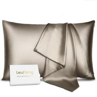 Leafbay 100% Pure Mulberry Silk Pillowcase for Hair & Skin - Dual Sides 22 Momme 600 Thread Count Silk Bed Pillow Cases with Hidden Zipper, Queen Size