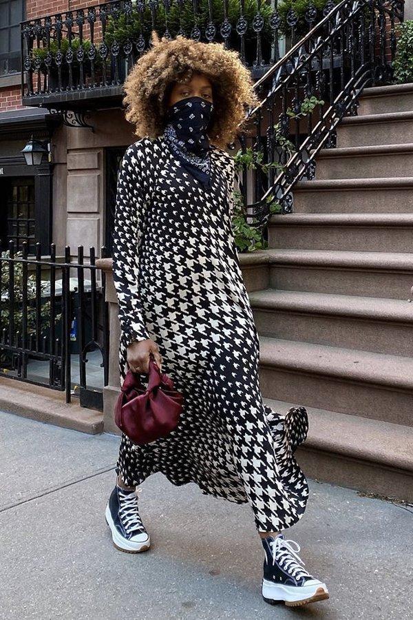 Karen Blanchard - vestido no inverno - vestidos - inverno - street style - https://stealthelook.com.br