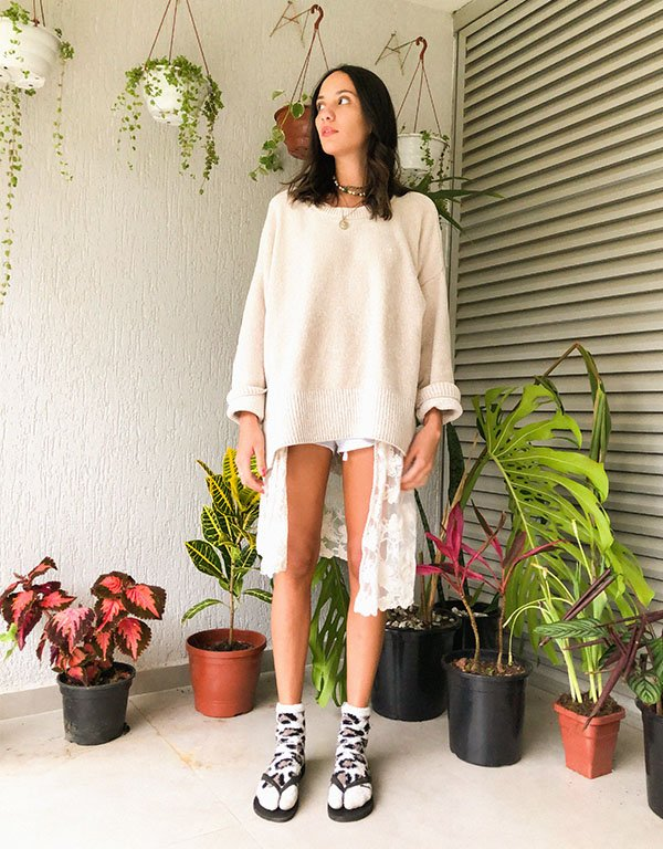 It girls - Suéter - Home office - Outono - Street Style - https://stealthelook.com.br
