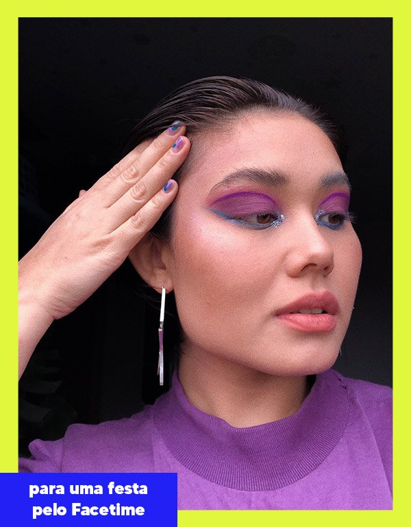 Kauany Yukare - Makes coloridas - Festa online - Outono - Street Style - https://stealthelook.com.br