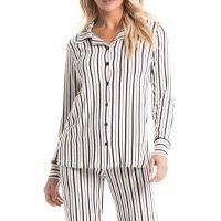 Pijama Longo Listrado Abotoado Débora