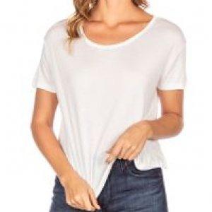 Camiseta Feminina Manga Curta Off White Tamanho P