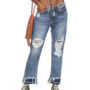 Calça Feminina Jeans Mom Destroeyd Tamanho 34