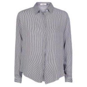Camisa Feminina Listrada Pto+Off Tamanho P