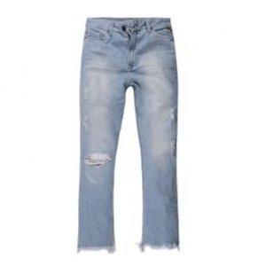 Calça Feminina Jeans Barra Desfiada E Rasgos Stone Cl Tamanho 36