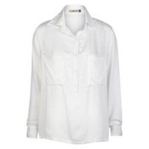 Camisa Feminina Alongada Off Whte Tamanho P